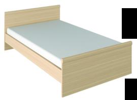 Кровать двуспальная Джулия с щитовым основанием 1400