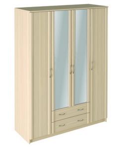 Шкаф 4 с зеркалом Джулия