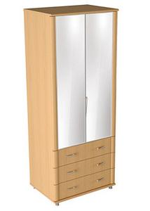 Шкаф с зеркалами Милан арт 02.016